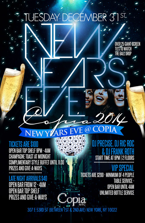 Copia NYC New Years Eve Party