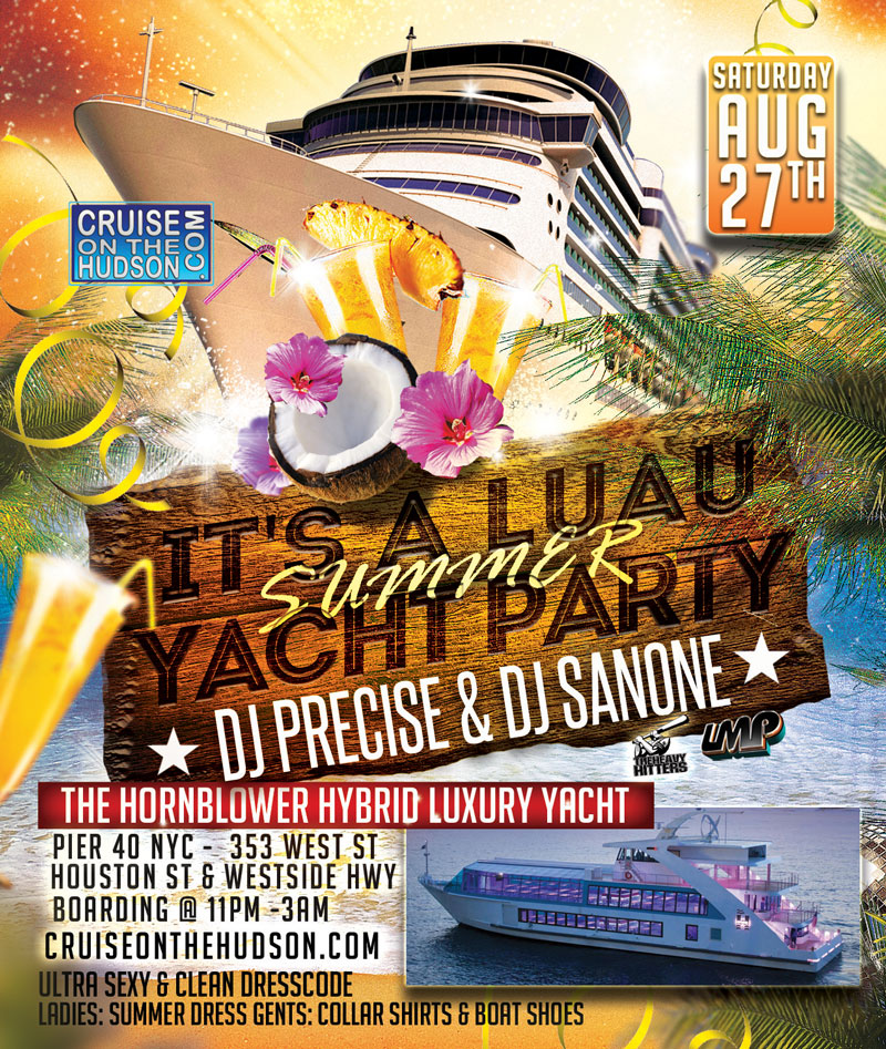 Luau Yacht Party Cruise NYC Boat Party