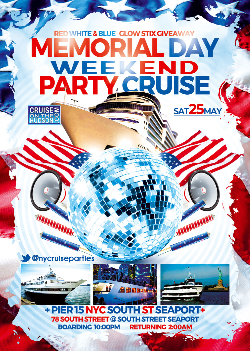 Memorial Day Weekend Midnight Waters Dance Cruise NYC