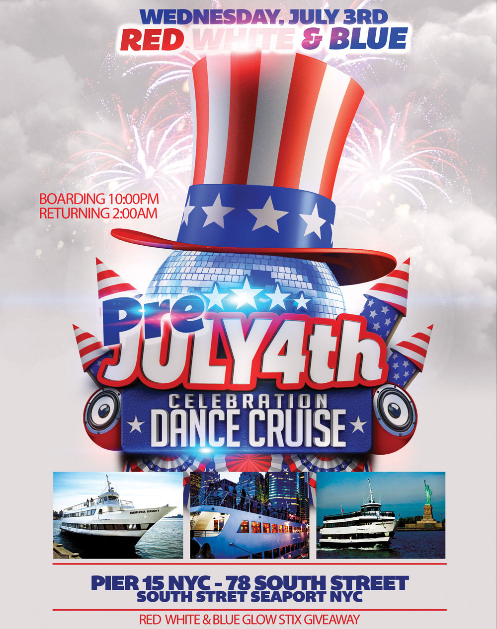 NYC Fourth of July Dance Cruise NYC 4th of July Cruise
