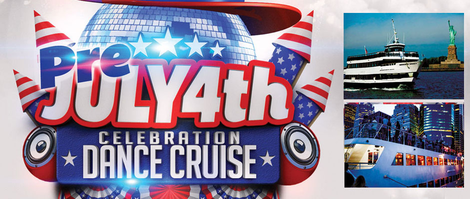 Pre 4th of July Weekend Party Dance Cruise NYC Boat Party Hornblower Serenity Yacht boat Pier 15 NYC South Street Seaport