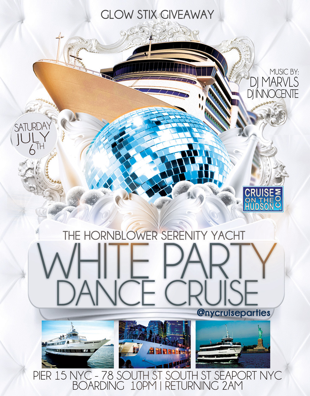 The White Party Dance Cruise NYC Memorial Day Weekend New York