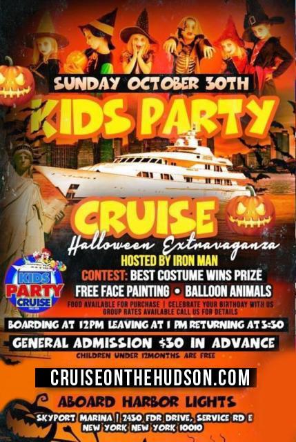 NYC Halloween Cruise Harbor Lights Yacht Kids Cruise NYC