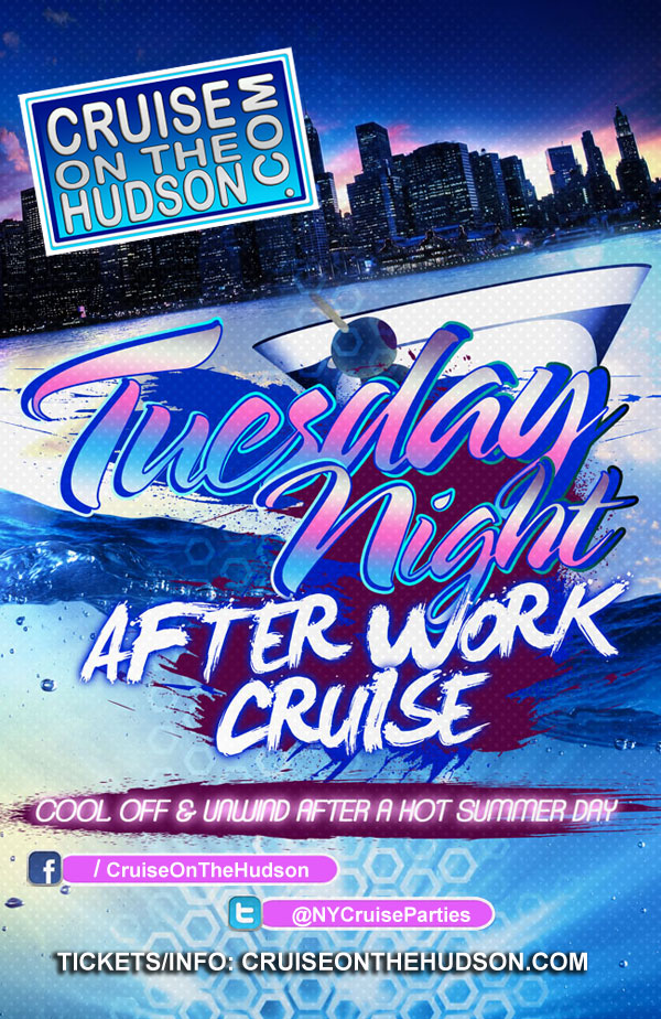 Stress Free Tuesday After Work Cruise NYC on the Hudson