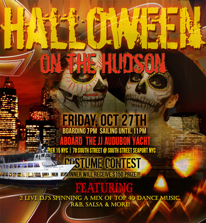 After Work Halloween Cruise NYC Cabana Yacht Skyport Marina NYC